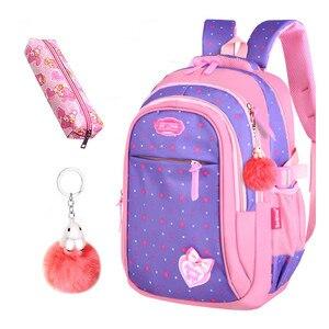 Image 4 - Школьные сумки для девочек со звездами, детский студенческий рюкзак, сумка для начальной школы, детские сумки, рюкзак Mochila Infantil
