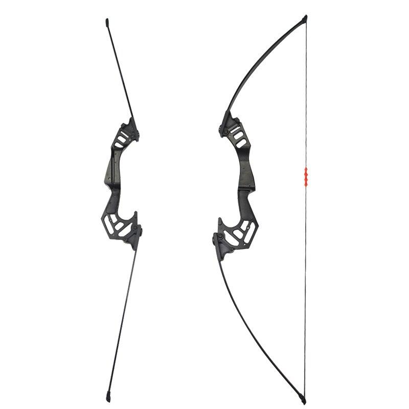 1 комплект Стрельба Из Лука 53 дюйма 35lbs прямой Потяните лук стрельба тренировка изогнутый лук с защитой от пальцев для охоты аксессуары - 3