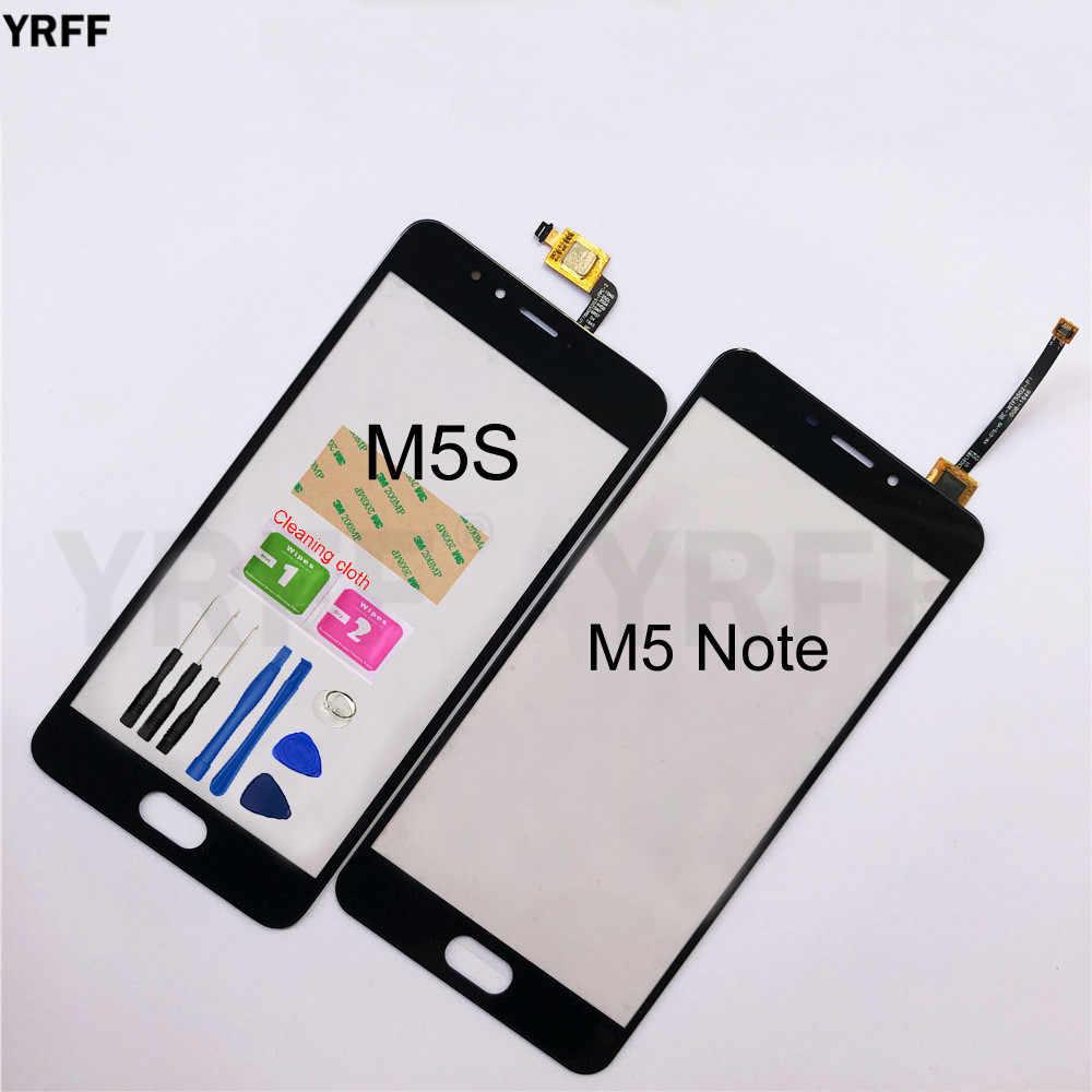 لمس ل Meizu M5 ملاحظة M5S محول الأرقام بشاشة تعمل بلمس الاستشعار الزجاج لوحة عدسة استبدال