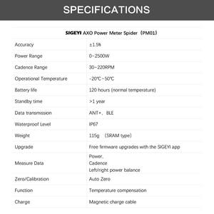 Image 5 - SIGEYI אופני עכביש כוח מטר כביש MTB AXO Fit SRAM הרוטור Crank עבור Shimano 53/39T 52/36T 50/34T כושר כתר עגול/סגלגל Chainring