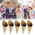 100 stücke Kreative Vintage kraft Papier zylinder Konfetti Kegel Hochzeit Party Decor