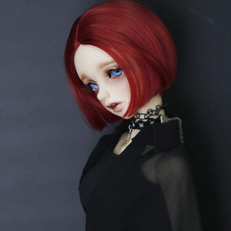 2021 New Style 1/3 1/4 1/6 1/8 Bjd SD Doll Wig High Temperature Wire Short Straight Wig For BJD Hair