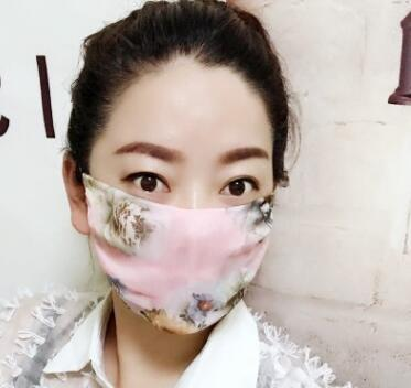 Women's spring summer flower print thin natural silk mask female sunscreen driving dust protection mouth-muffle R1060