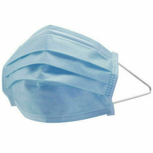 3-Layer mask Anti Dust Flu Virus Breathable Earloop Mouth Face Mask Comfortable Sanitary Mask Blue 5