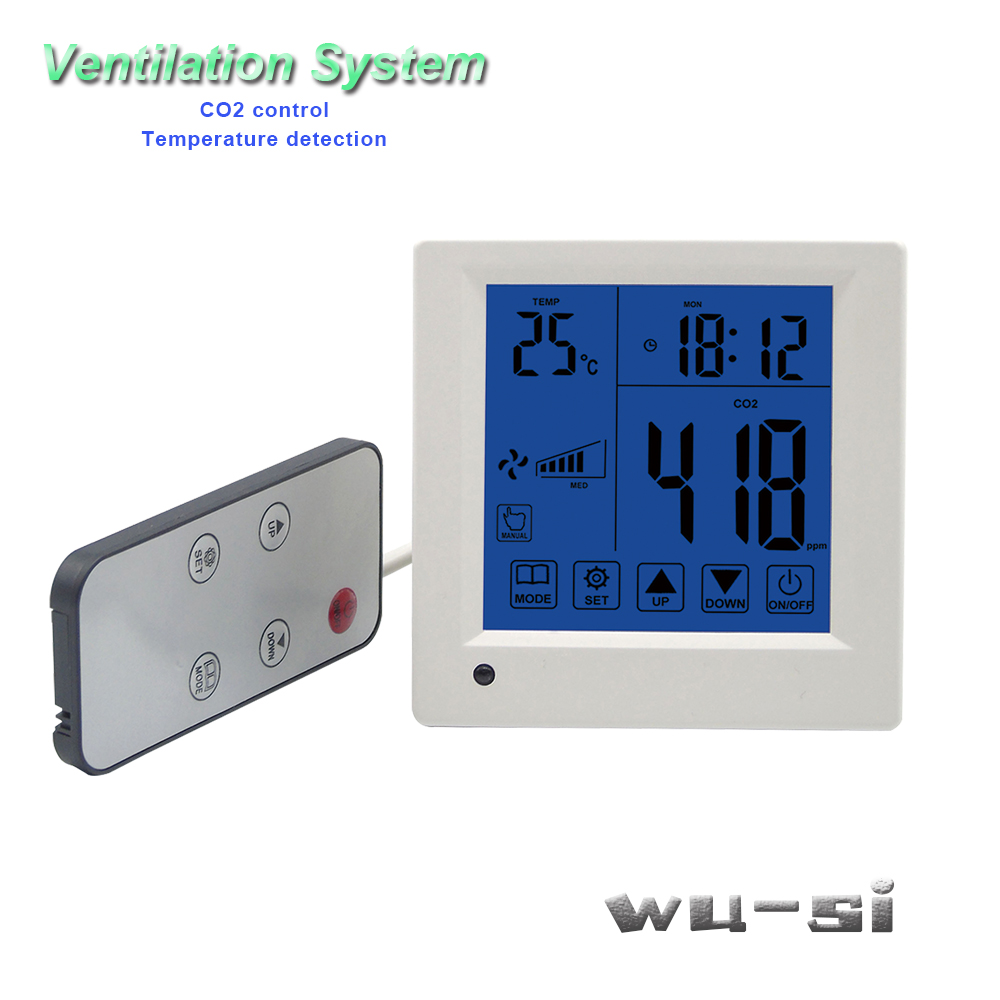 Tools : Co2 tester control ventilation systemwith remote control 3 speed relay output regulator