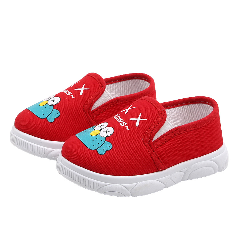 Spring New Children's Canvas Shoes Low-top Casual Cute Breathable Soft Bottom Slip-on Flats Loafers For Kids Girls Boy Sneakers