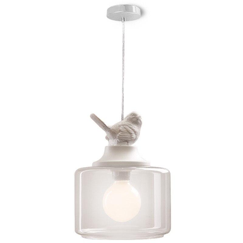 BDBQBL creative ve1 tête oiseau pendentif lumières lampe verre Transparent Europe du nord enfants lampes lanternes lampe de salon