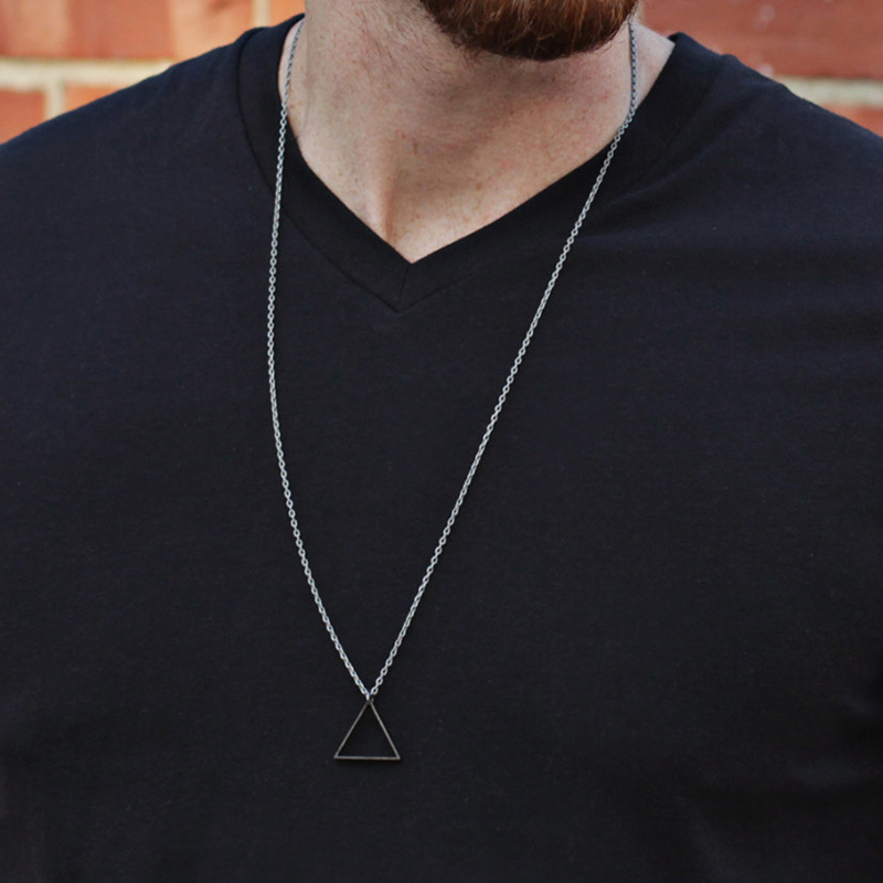 2019 Fashion Simple Black New Pendant Necklace For Men Women Stainless Steel Long Necklace Party Jewelry Collier Femme Collar