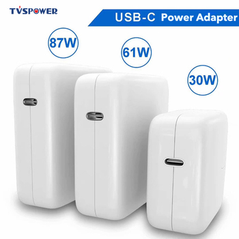 87W 61W 30W 29W USB-C Laptop Power Adapter Type-C PD Charger For Latest Macbook 13 15-inch A1706 A1707 A1707 for iphone iPad Pro