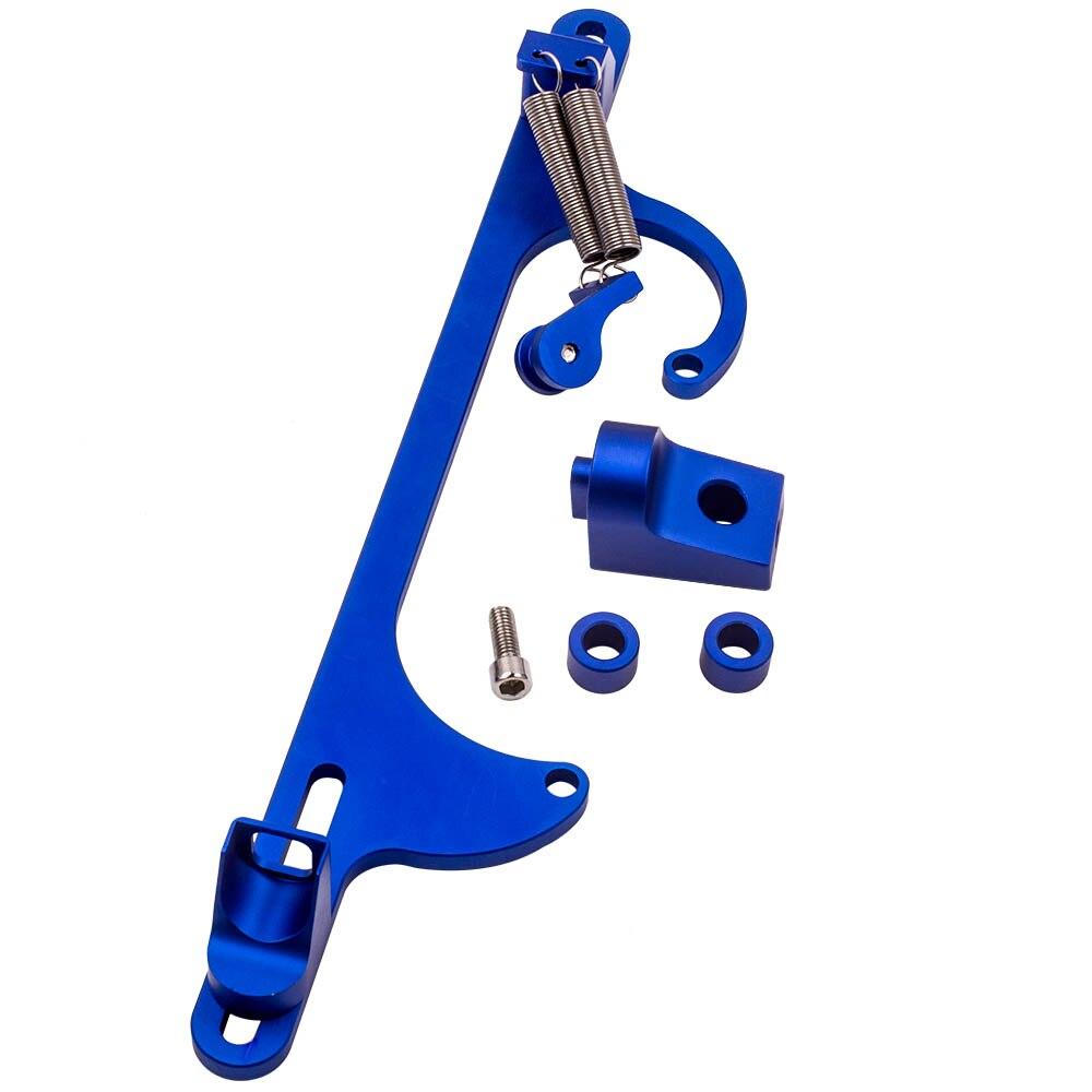 Nouveau bleu câble d'accélérateur Carb support carburateur convient pour Holley 4150 4160 350 SBC