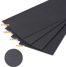 0.5-6MM 100X250 mm 3K Matte Surface Twill Carbon Plate Panel Sheets High Composite Hardness Material Anti-UV Carbon Fiber Board mix thickness 1 5mm 2 0mm full carbon fiber sheets twill matte unidirectional cf carbon plates epoxy resin