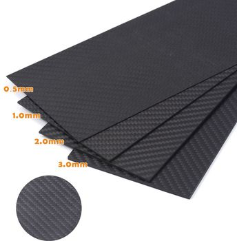0.5-6MM 100X250 mm 3K Matte Surface Twill Carbon Plate Panel Sheets High Composite Hardness Material Anti-UV Carbon Fiber Board [new product] kudo new hydrofoil made by 100% 3k carbon fiber bigger wings for sup board surfboard