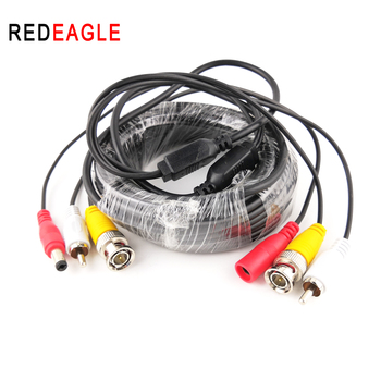 цена на REDEAGLE 5M 10M 20M Security CCTV Cable BNC RCA CCTV Camera Video Audio AV Power Cable For AHD Surveillance Camera DVR System