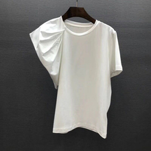 2020 Summer New Korean-style Women's T Shirts Round Neck Wild Cotton La