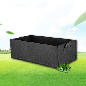 Image 1 - Wachsen Tasche Garten Bett Anti Korrosion Outdoor Gemüse Pflanzer Nicht woven Stoff Sämling Gallonen Baum Griff Rechteck Erdbeere