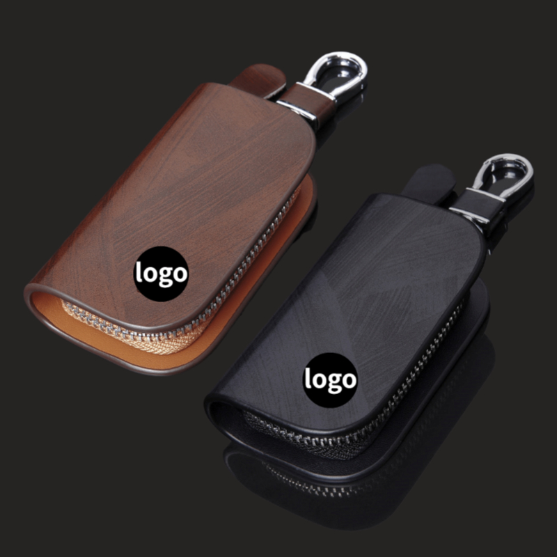 Car Key Case Wallet Bag for Audi Logo A3 A4 A5 A6 RS4 Mercedes Benz W211 W205 W221 BMW F20 E39 VW Polo Ford Focus 2 Hyundai Opel