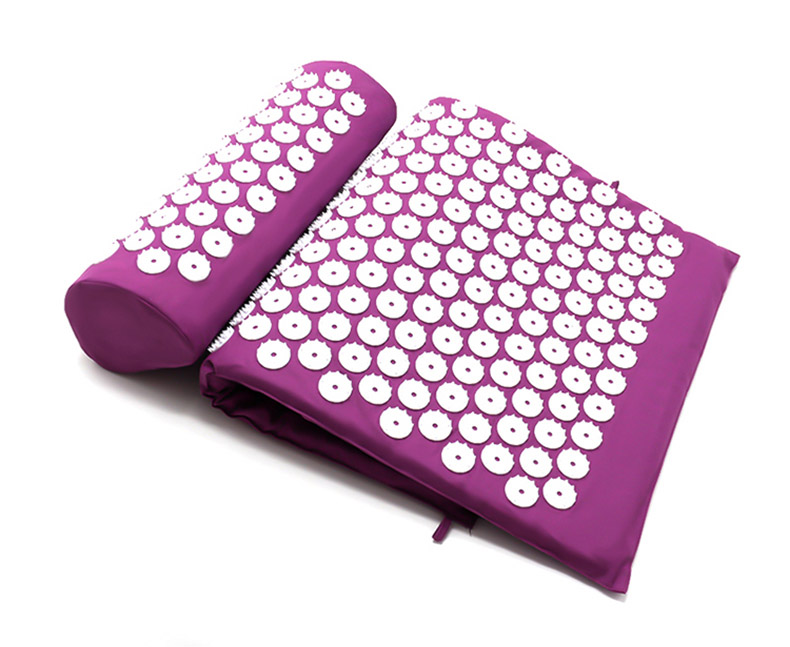 acupressure massage yoga mat pad, acupressure, nbsp, points, more, cushion, pillow, back, neck, relieve, convenient - H50a386d0bed546ac8c9a35ac764f99738 - Acupressure Massage Yoga Mat Pad - Fititudestore