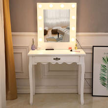Туалетный столик щедрый зеркальный одиночный нагнетающий с лампочкой
