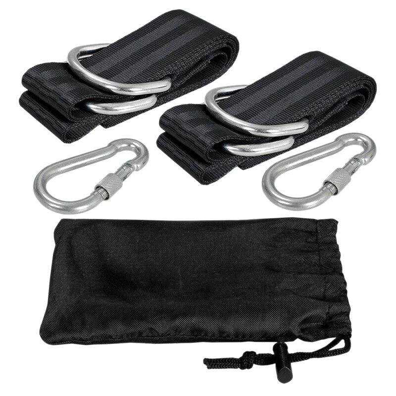 Hot XD-Tree Swing Straps Kit Hanging Straps Hammock Tree Swing 5Ft With 2 Heavy Duty Carabiner Hooks