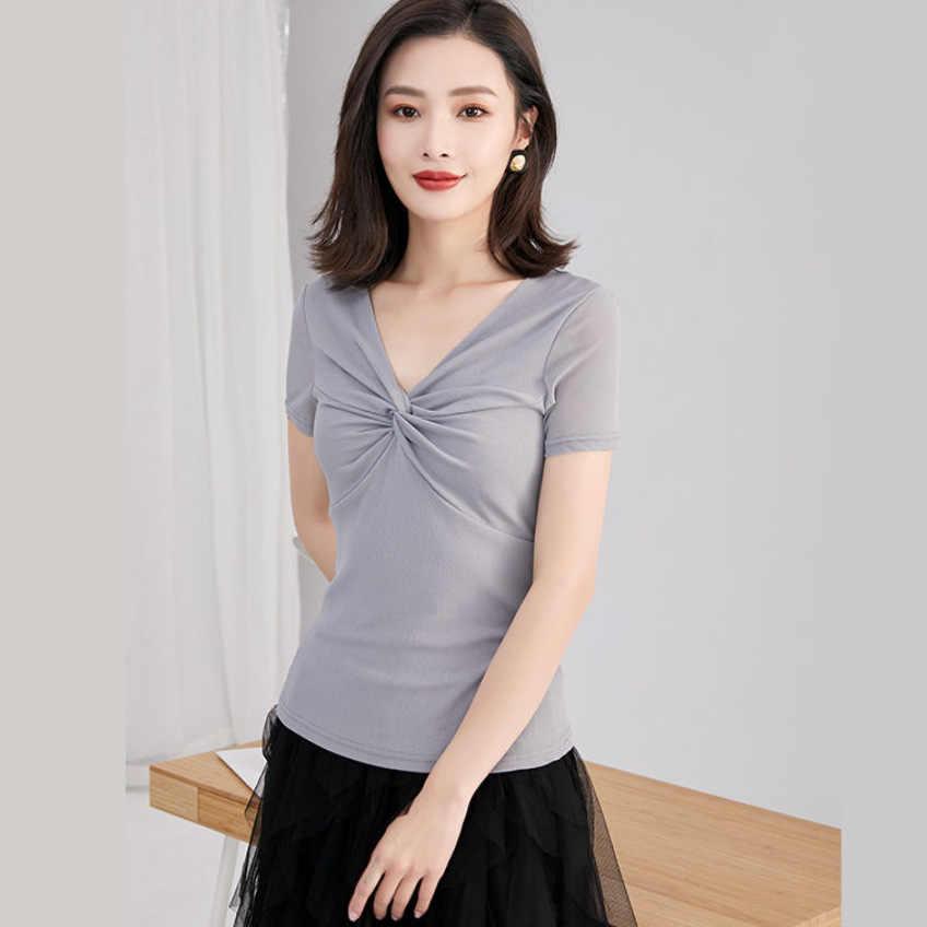 2020新夏の女性の半袖コットンtシャツfashon因果女性の綿のtシャツ