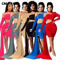 Мини-платье CM.YAYA женское с вырезами, эластичное асимметричное однотонное платье-футляр с длинным рукавом, пикантное клубвечерние вечернее ...