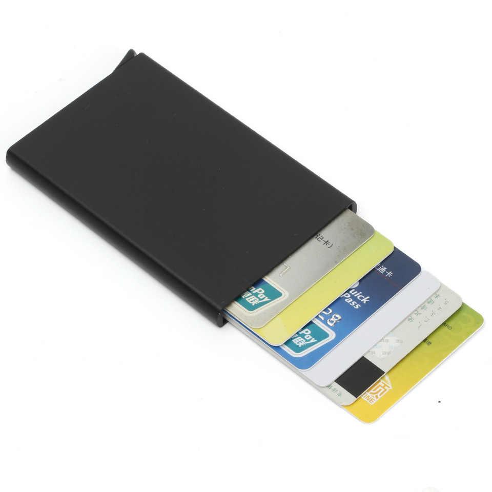 2020 Mini Slim przenośne inteligentne etui na karty Rfid portfel męski etui na karty bankowe pieniądze krótkie kobiety posiadacz karty kiesy