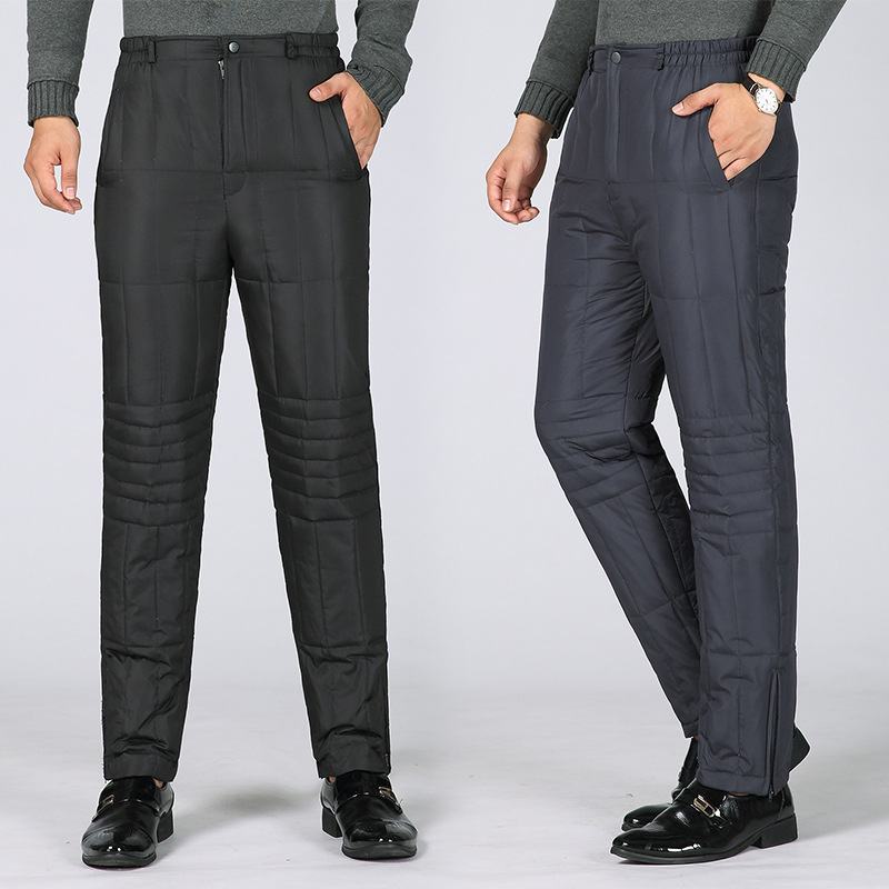 2019 Autumn And Winter New Men's Down Pants Outer Wear Thick Warm