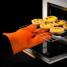 Oven Mitts Heat-Resistant-Gloves Kitchen Grilling BBQ Baking Thickening Silicon Non-Slip