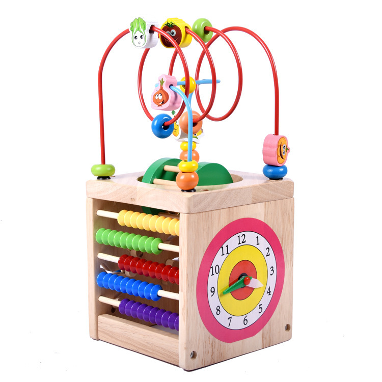 Multi-functional Beetle Bead Maze Cube Zb05 Understanding Time Calculation Code Lettered Find A Children'S Educational Toy 1.3