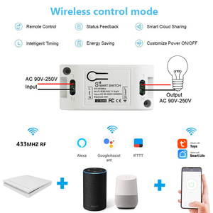 Image 2 - Rubrum WiFi Switch RF 433MHz 10A/2200W Timer Wireless Push Switch 86 ON/Off Switch Panel For Tuya Google Home Amazon Alexa Light