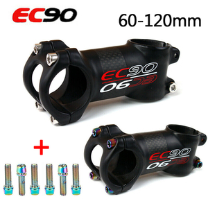 EC90 31.8 Mountain Bike Stems Carbon 6/17degrees Stem Short Bicycle Sterm 60-120mm Bicycle Accesorios Handlebar Stems