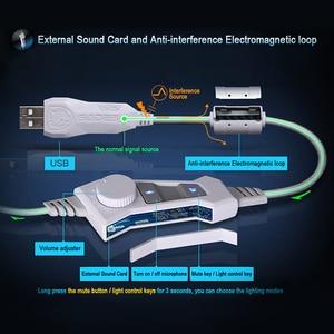 Image 5 - SADES USB 7,1 Stereo wired gaming kopfhörer spiel headset über ohr mit mic Voice control für laptop computer gamer
