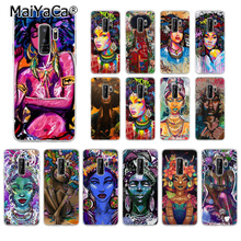 MaiYaCa Colorful art african girl  DIY Drawing Phone Case cover Shell for Samsung S5 S6 S6 edge Plus S7 S8 S8plus S9 S9plus все цены