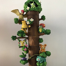 TAKARA TOMY Pocket Monster Pokemon Tree Doll Eevee Snorlax Kids Gifts Model Toys Pikachu Action Figure 8pcs/set