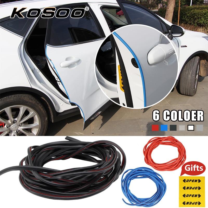 KOSOO voiture autocollant bord de porte rayure Crash bande Protection autocollant portes moulures côté rayures protecteur Auto voitures style