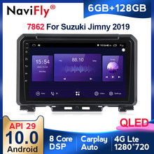 6G + 128G QLED RDS Carplay coche reproductor Multimedia Android 10 para Suzuki Jimny 2019 4G LTE IPS DSP construido en carplay GPS Naviagtion