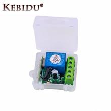 KEBIDU DC 12V 1CH 433 Mhz รีโมทคอนโทรลไร้สายรีเลย์ 433 Mhz โมดูลสำหรับรหัสการเรียนรู้เครื่องส่งสัญญาณ remote