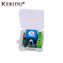 KEBIDU DC 12V 1CH 433 Mhz Kablosuz Uzaktan Kumanda Anahtarı röle 433 Mhz Alıcı Modülü öğrenme kodu Verici uzaktan