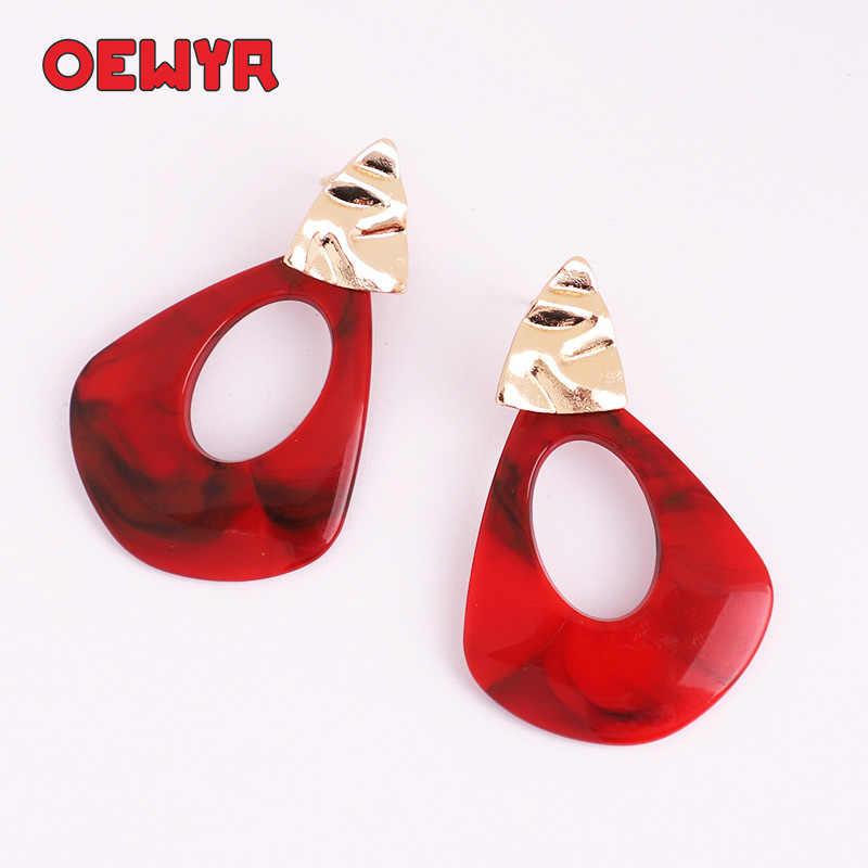 Boho Droplets Earrings Fashion Dangle Acrylic 2019 Women Earring Gifts For Women Geometric Za Statement Earring Bridal Jewelry