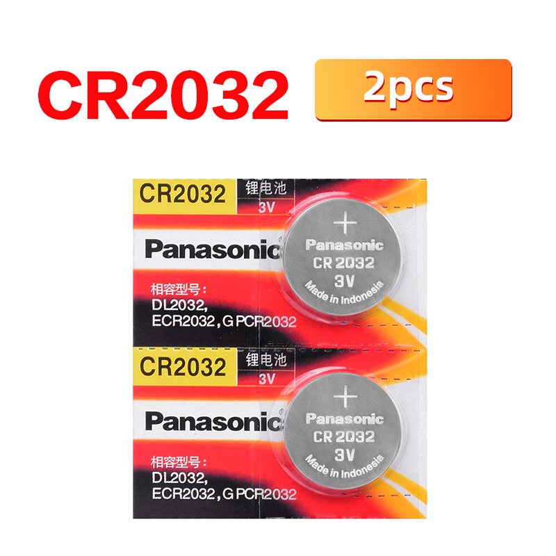<font><b>PANASONIC</b></font> Original 2pcs/lot cr2032 Button Cell Batteries 3V Coin Lithium Battery For Watch Remote Control Calculator cr <font><b>2032</b></font> image