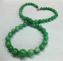 Jewelry Pearl Necklace New Design Chinese Classic 6-14mm Green Jades Necklace Free Shipping(China)