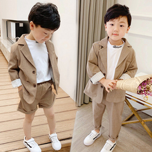Korean Children's Casual Suits 2020 New Spring Summer Clothing Set Boys & Girls