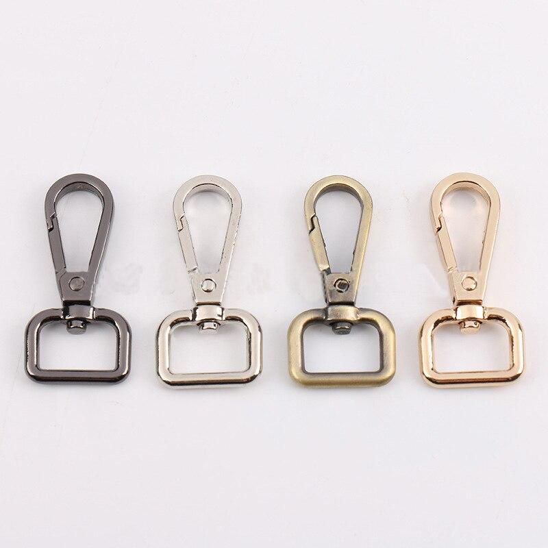 2PCS Metal Detachable Snap Hook Silver Gold Webbing Pet Leash Hooks Bag Parts Trigger Clips Buckles for Leather Strap Wholesale