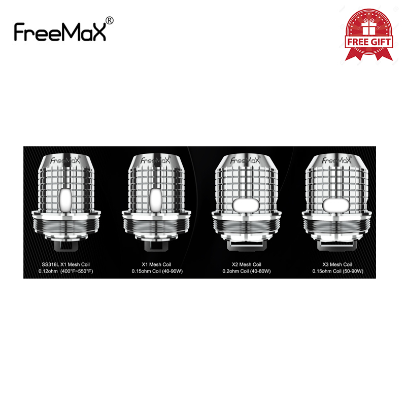 5pcs/lot Original Freemax Twister Fireluke 2/Fireluke Mesh Coil X1/X2/X3 SS316 Mesh Coil For Freemax Twister 80w Vaporizer Kit