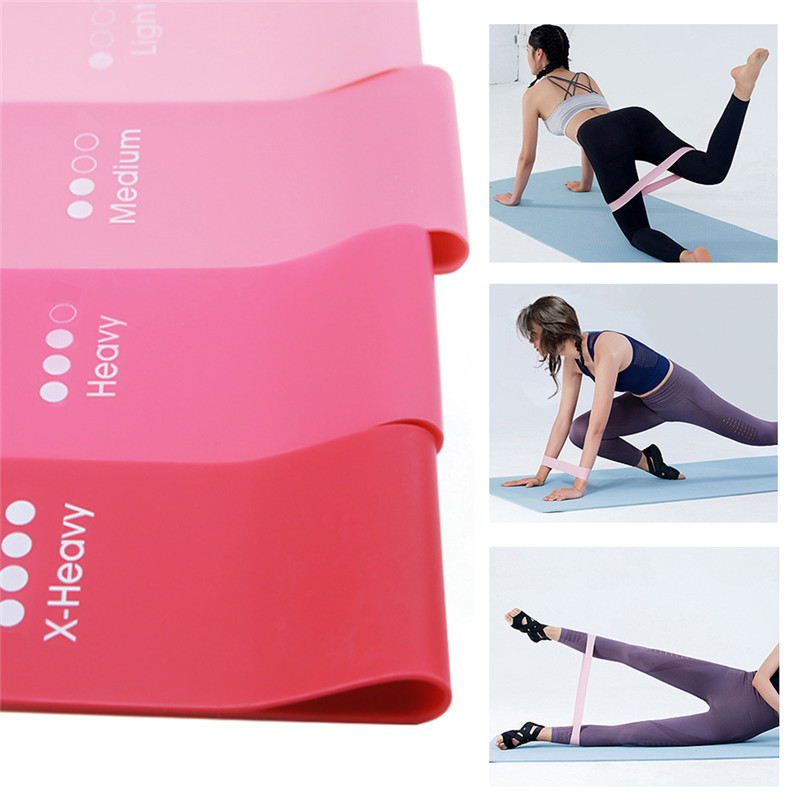 4Pcs/Set Yoga Elastic Bands For Fitness Gum Resistance Bands Workout Sport Rubber Bands Training Exercise Equipments