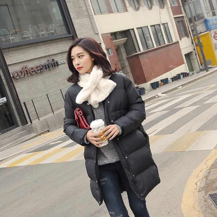 2019 nuovi alla moda capelli del coniglio di inverno sciarpa di colore solido croce sciarpa calda