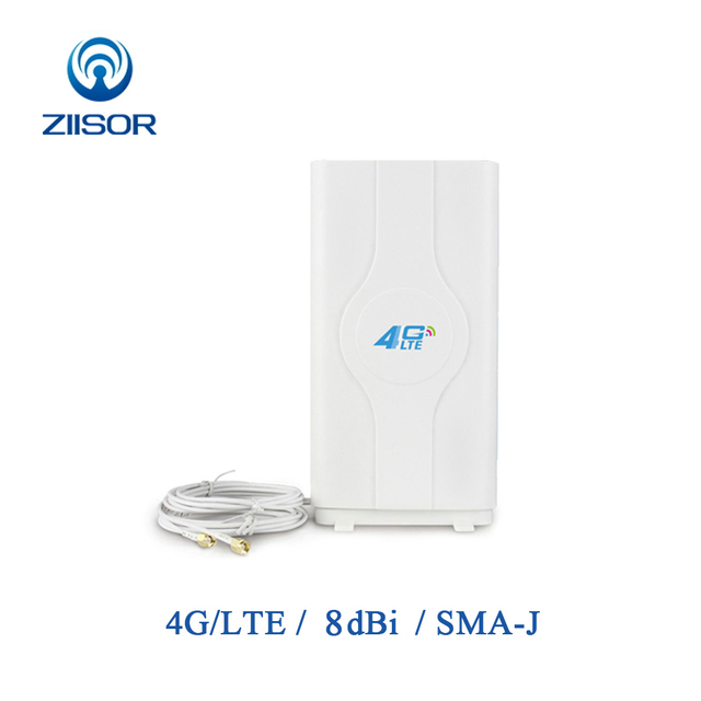 3G 4G LTE MIMO Antenna External Panel Antenna Signal Booster for Router with Two SMA Male Adapater and Cable TX4G PB 2212