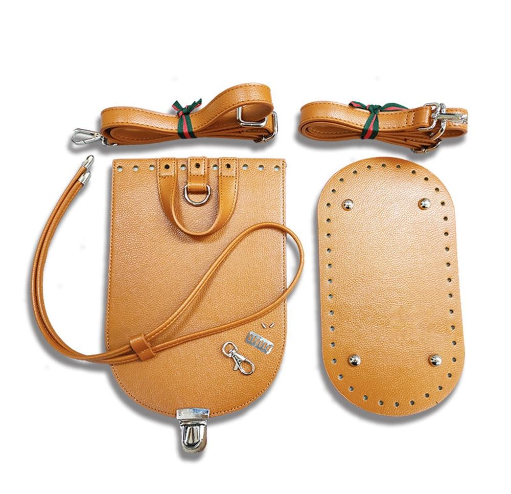 Handmade Handbag Shoulder Strap Woven Bag Set Leather Bag Bottoms With Hardware Accessories For DIY Bag Backpack 7PCS Set