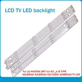 100%NEW!! 16 PCS(8*A,8*B)825mm LED strip 8 leds For LG INNOTEK DRT 3.0 42_A/B TYPE 42LB5610 42LB5510 42LY320C 42GB6310 TV LCD 825mm led strip 8 leds for lg innotek drt 3 0 42 a b type 42lb5610 42lb5510 42ly320c 42gb6310 42lb552v tv lcd replacement 4sets