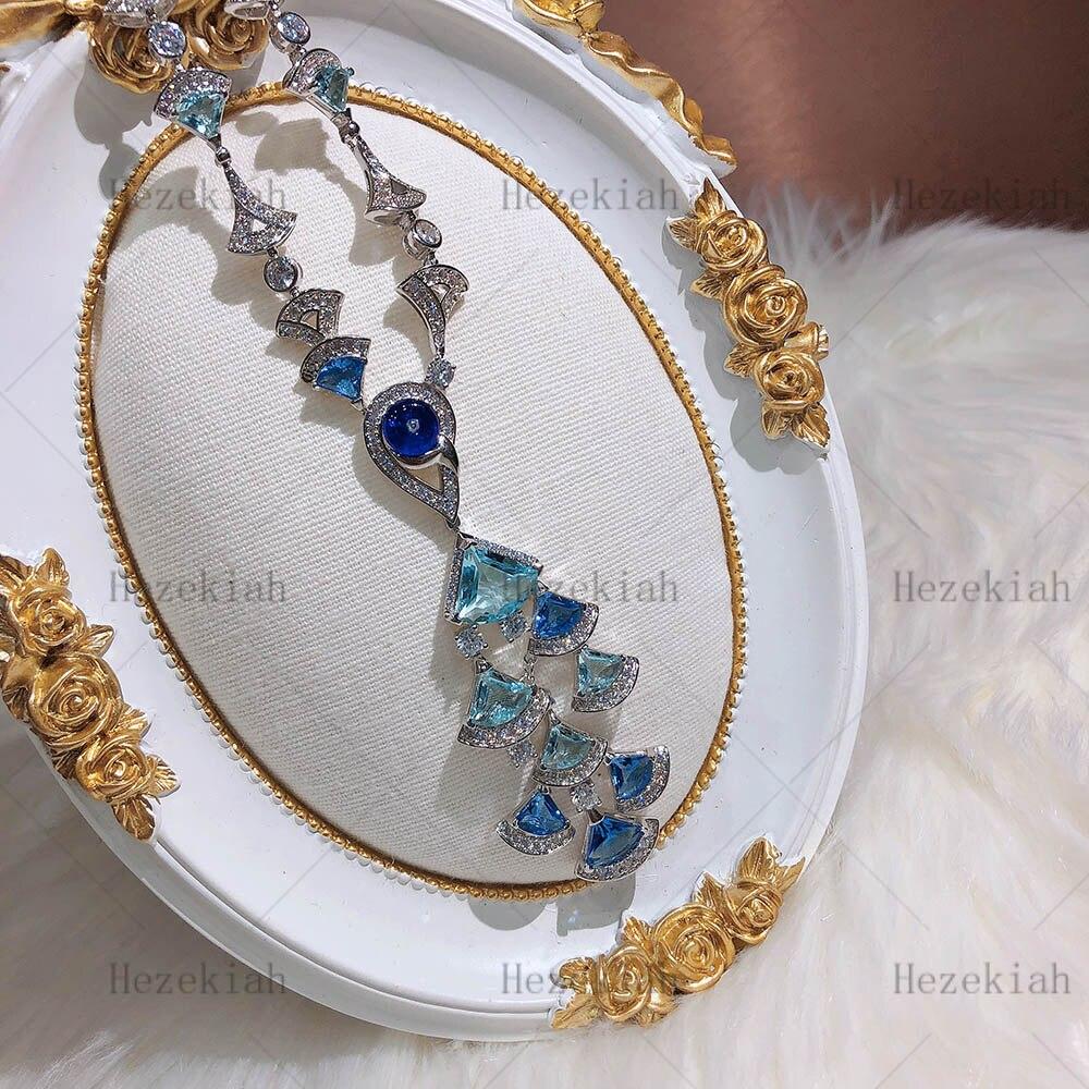 Hezekiah S925 collier de luxe en argent Sterling de haute qualité collier de dames de luxe fête de danse dames et dames tempérament
